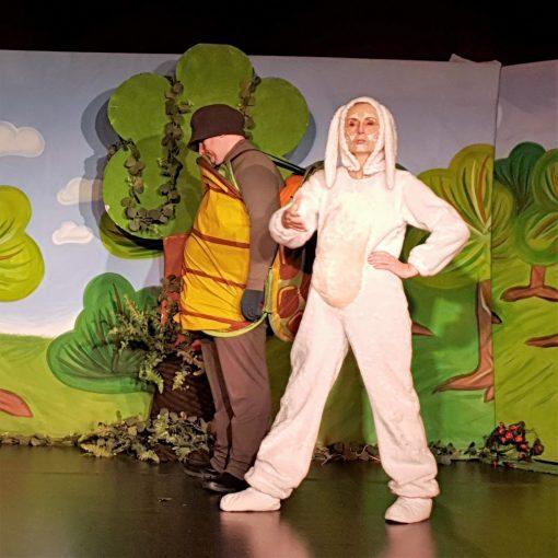 A teknős és a nyúl versenyfutása - mesejáték, gyermekprogram a Center Színházban - Center Színház
